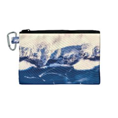 Antarctica Mountains Sunrise Snow Canvas Cosmetic Bag (Medium)