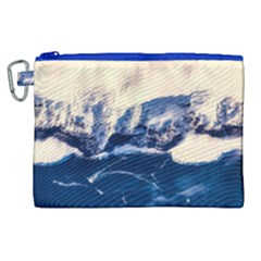 Antarctica Mountains Sunrise Snow Canvas Cosmetic Bag (xl)