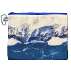 Antarctica Mountains Sunrise Snow Canvas Cosmetic Bag (XXL)