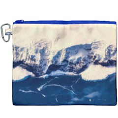 Antarctica Mountains Sunrise Snow Canvas Cosmetic Bag (XXXL)