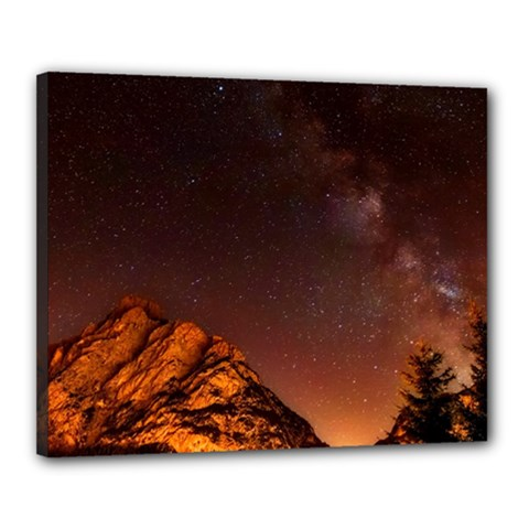 Italy Night Evening Stars Canvas 20  X 16  by BangZart