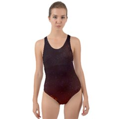 Italy Night Evening Stars Cut Out Back One Piece Swimsuit