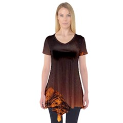 Italy Night Evening Stars Short Sleeve Tunic