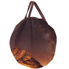 Italy Night Evening Stars Giant Round Zipper Tote