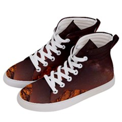 Italy Night Evening Stars Men s Hi-top Skate Sneakers by BangZart