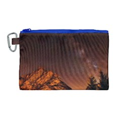 Italy Night Evening Stars Canvas Cosmetic Bag (large)