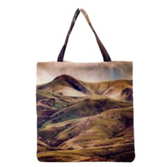 Iceland Mountains Sky Clouds Grocery Tote Bag