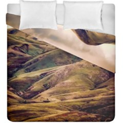 Iceland Mountains Sky Clouds Duvet Cover Double Side (king Size)