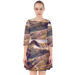 Iceland Mountains Sky Clouds Smock Dress