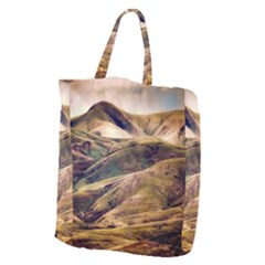 Iceland Mountains Sky Clouds Giant Grocery Zipper Tote