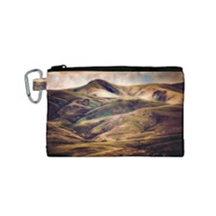 Iceland Mountains Sky Clouds Canvas Cosmetic Bag (small)