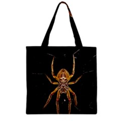 Insect Macro Spider Colombia Zipper Grocery Tote Bag