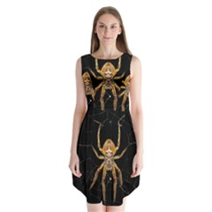 Insect Macro Spider Colombia Sleeveless Chiffon Dress