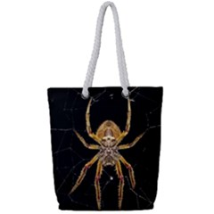 Insect Macro Spider Colombia Full Print Rope Handle Tote (small)