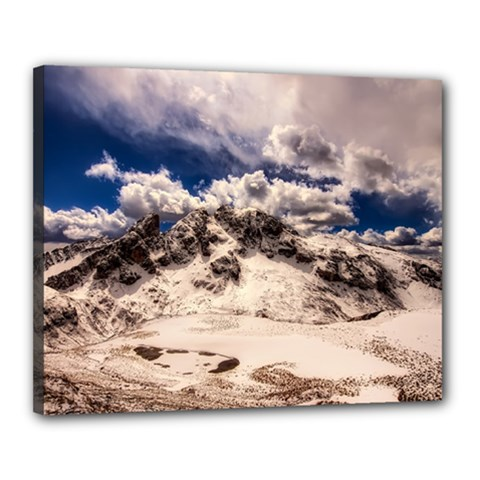 Italy Landscape Mountains Winter Canvas 20  X 16  by BangZart