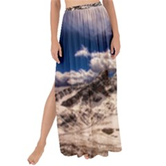 Italy Landscape Mountains Winter Maxi Chiffon Tie Up Sarong
