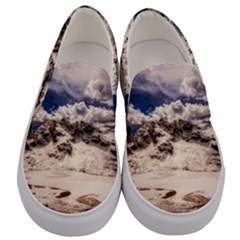 Italy Landscape Mountains Winter Men s Canvas Slip Ons