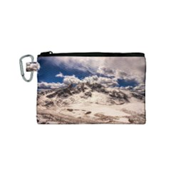 Italy Landscape Mountains Winter Canvas Cosmetic Bag (small)