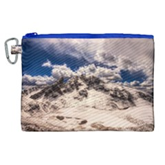 Italy Landscape Mountains Winter Canvas Cosmetic Bag (xl)