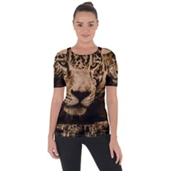 Jaguar Water Stalking Eyes Short Sleeve Top