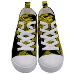 Golden Rod Gold Diamond Kid s Mid Top Canvas Sneakers