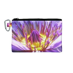Flower Blossom Bloom Nature Canvas Cosmetic Bag (medium)