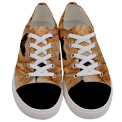 Africa African Animal Cat Close Up Women s Low Top Canvas Sneakers