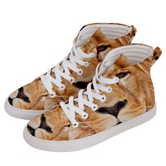 Africa African Animal Cat Close Up Women s Hi-top Skate Sneakers by BangZart