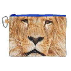 Africa African Animal Cat Close Up Canvas Cosmetic Bag (xl) by BangZart