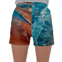 Sea Ocean Coastline Coast Sky Sleepwear Shorts
