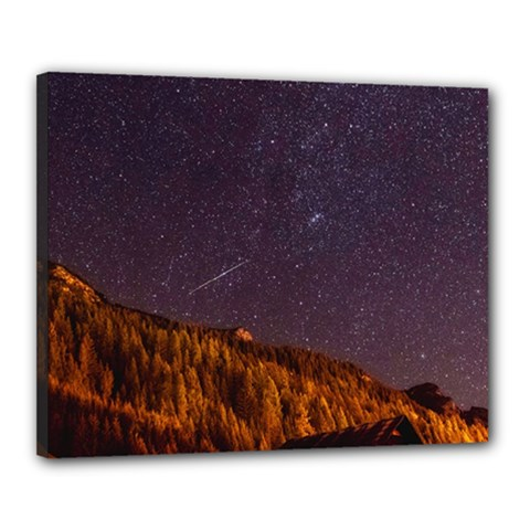 Italy Cabin Stars Milky Way Night Canvas 20  X 16  by BangZart