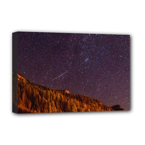 Italy Cabin Stars Milky Way Night Deluxe Canvas 18  X 12