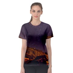 Italy Cabin Stars Milky Way Night Women s Sport Mesh Tee