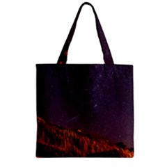 Italy Cabin Stars Milky Way Night Zipper Grocery Tote Bag by BangZart