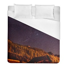 Italy Cabin Stars Milky Way Night Duvet Cover (full/ Double Size)