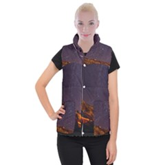 Italy Cabin Stars Milky Way Night Women s Button Up Puffer Vest