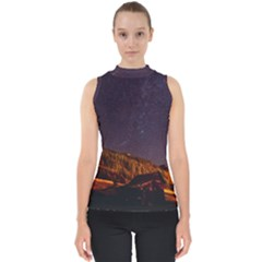 Italy Cabin Stars Milky Way Night Shell Top by BangZart
