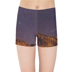 Italy Cabin Stars Milky Way Night Kids Sports Shorts by BangZart
