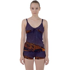 Italy Cabin Stars Milky Way Night Tie Front Two Piece Tankini