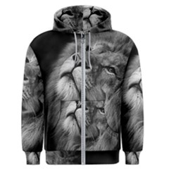 Feline Lion Tawny African Zoo Men s Zipper Hoodie