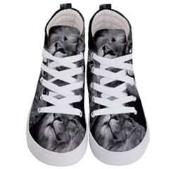 Feline Lion Tawny African Zoo Kid s Hi Top Skate Sneakers