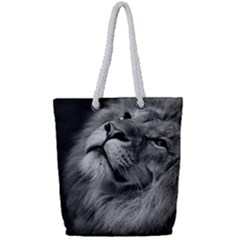 Feline Lion Tawny African Zoo Full Print Rope Handle Tote (small)