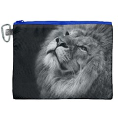 Feline Lion Tawny African Zoo Canvas Cosmetic Bag (xxl)