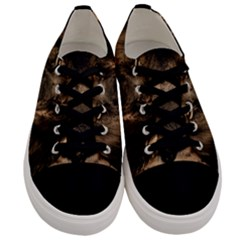 African Lion Mane Close Eyes Men s Low Top Canvas Sneakers