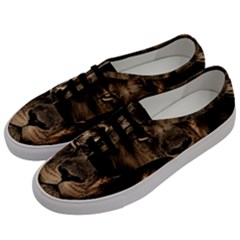African Lion Mane Close Eyes Men s Classic Low Top Sneakers by BangZart