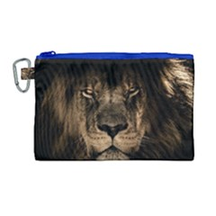 African Lion Mane Close Eyes Canvas Cosmetic Bag (large)