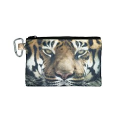 Tiger Bengal Stripes Eyes Close Canvas Cosmetic Bag (small)