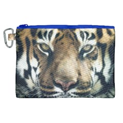 Tiger Bengal Stripes Eyes Close Canvas Cosmetic Bag (xl)