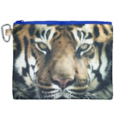Tiger Bengal Stripes Eyes Close Canvas Cosmetic Bag (xxl)