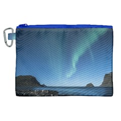 Aurora Borealis Lofoten Norway Canvas Cosmetic Bag (xl)
